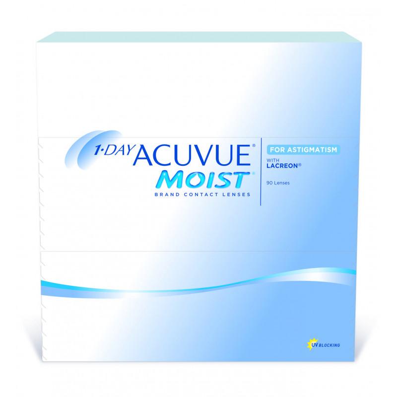 1-day ACUVUE MOIST  for Astigmatism boîte de 90 lentilles
