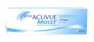 1-day ACUVUE MOIST  for Astigmatism boîte de 30